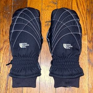 The north face gloves mittens black hyvent large